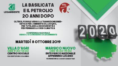 """Photo of """"La Basilicata e il petrolio 20 anni dopo"""", conferenza l'8 ottobre a Villa d'Agri e Marsico Nuovo"""