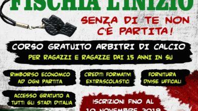 Photo of A Moliterno corso gratuito per arbitri di calcio da 15 anni in su