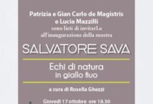 "Photo of Salvatore Sava in mostra a Milano.""Echi di Natura in giallo fluo"""