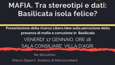 "Photo of Evento Libera Val d'Agri, ""Mafia. Tra stereotipi e dati: Basilicata isola felice?"" il 17 gennaio"