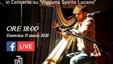 """Photo of Manuel Zito oggi in concerto con la sua Arpa su """"Viggiano Spirito Lucano"""""""