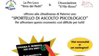 Photo of Sportello di ascolto psicologico gratuito a Paterno