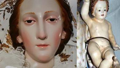 Photo of Restituite due sculture alla chiesa Madonna delle Grazie a Tito